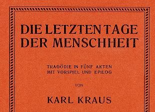 K. Kraus Die letzten Tage der Menschheit - Cover